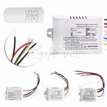 Беспроводной 1/2/3/канальный переключатель включения/выключения лампы дистанционного управления приемник передатчик