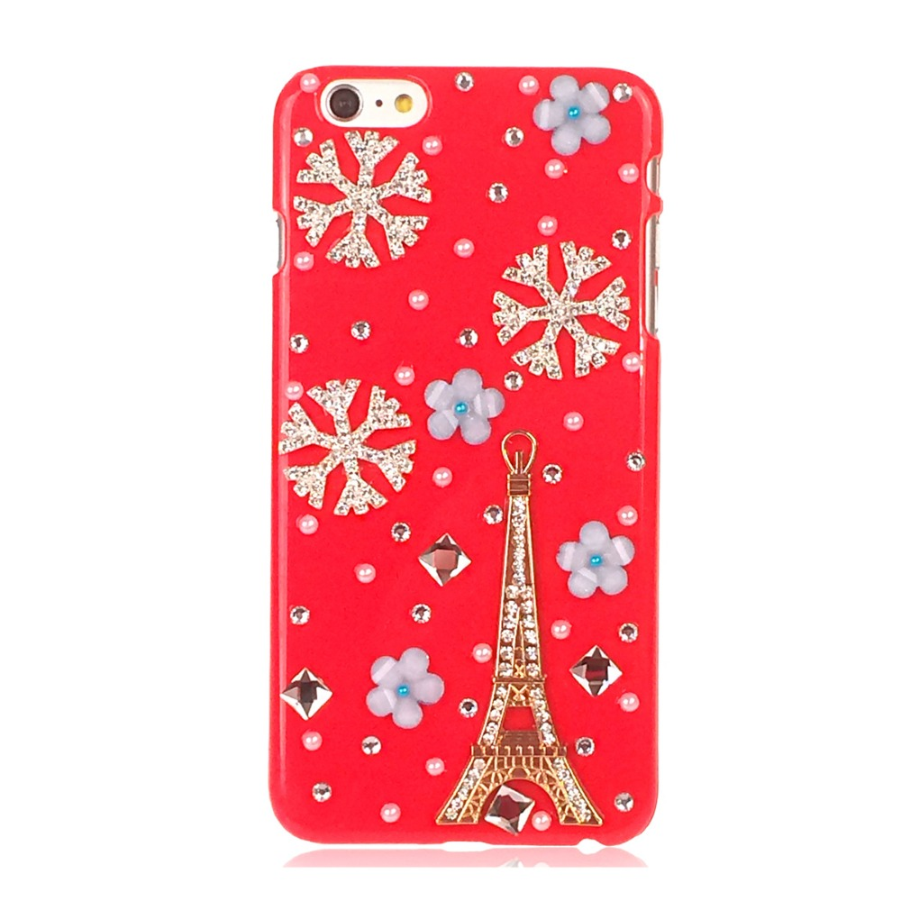 hot 3d crystal christmas phone cases for iphone for samsung diamond hard back cover case christmas gift in rhinestone cases from cellphones
