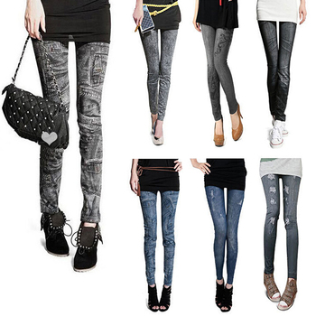 Skinny Pants Slim Denim Leggings Fashion Women Sexy Jean Skinny Leggings Stretchy Comfortable Leggings фото