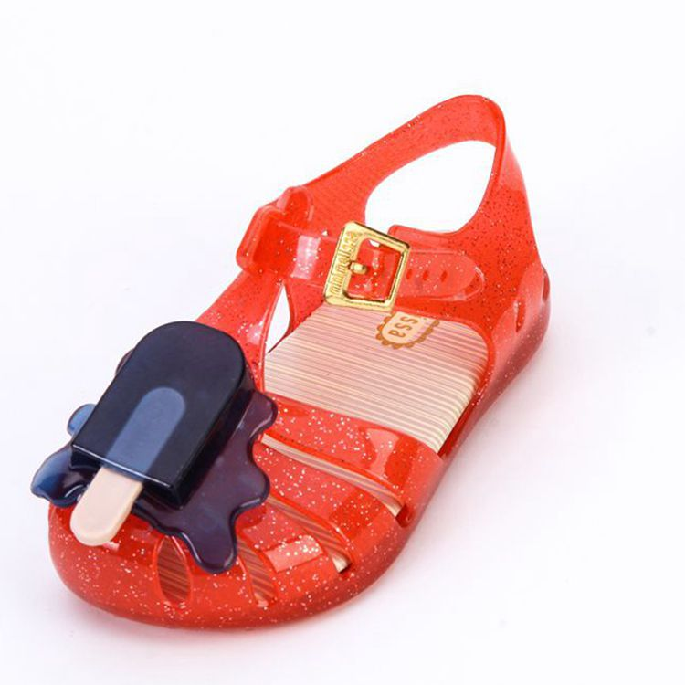 Mini Melissa Brand IcePopsicles Girl Jelly Children Shoes Sandals Baby Roman Sandals Girl Sandals Girl Water Shoes 14-19cm