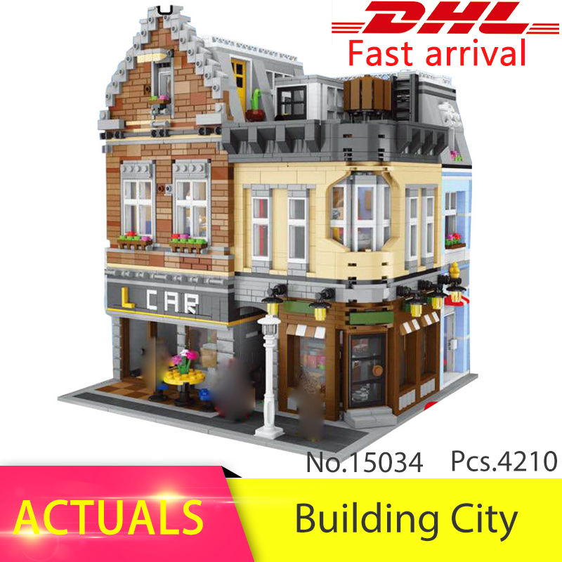 Lepin 15034 4210pcs Genuine MOC Series The New Building City Set Building Blocks Bricks Educational Toy Model As Christmas Gifts ynynoo lepin 02043 stucke city series airport terminal modell bausteine set ziegel spielzeug fur kinder geschenk junge spielzeug