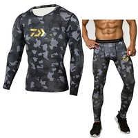 Daiwa, мужское термобелье, наборы, компрессионное, пот, быстрое высыхание, термо нижнее белье, Мужская одежда, длинные комплекты одежды для рыб...