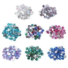 50Pcs lot 10mm Glitter Resin Round Fish Scale Rhinestones Charms Fittings  for DIY Jewelry Garment Accessories 30b12982d267
