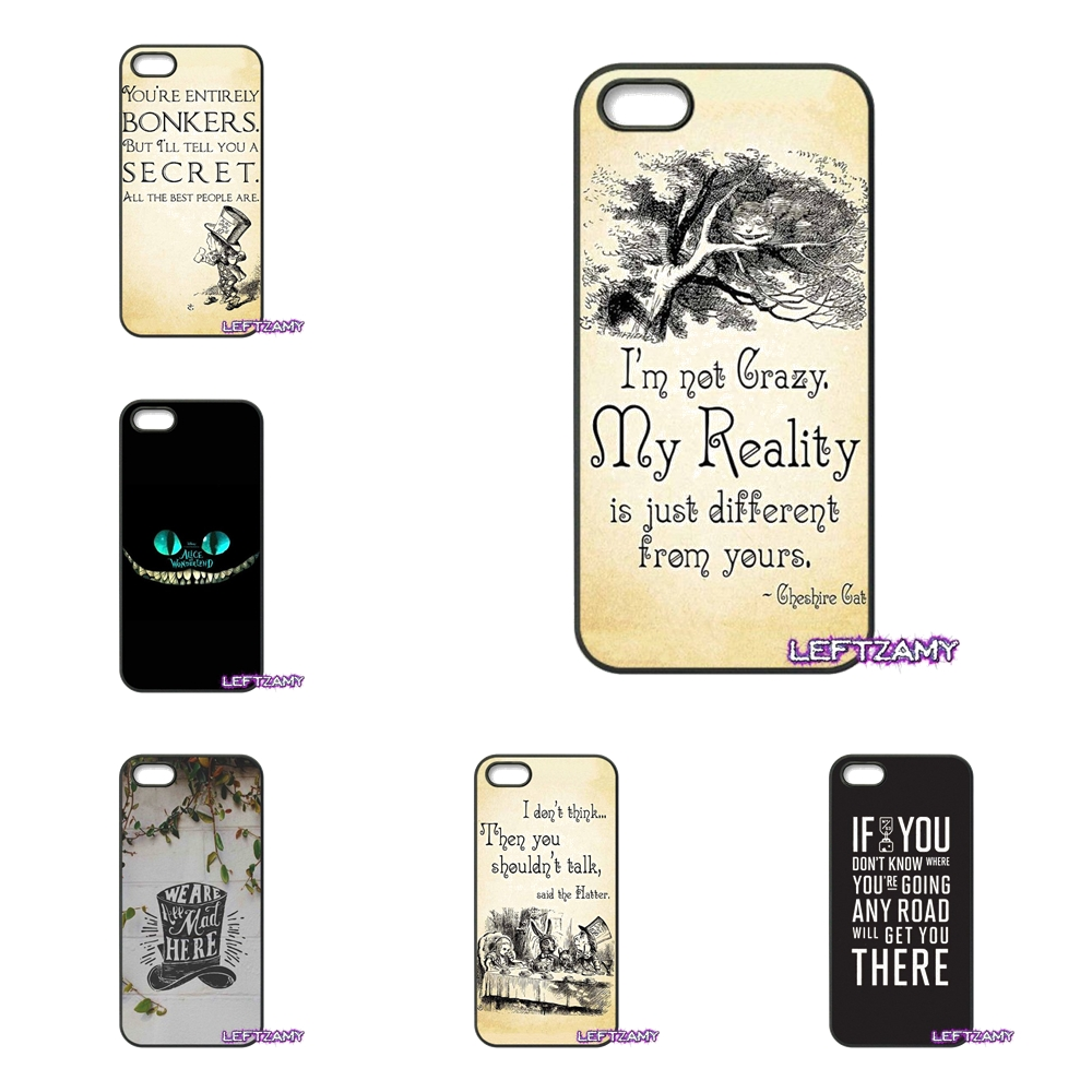 For Lenovo A2010 A6000 S850 K3 K4 K5 K6 Note Samsung Galaxy J1 J2 2015 2016 Alice in Wonderland quote Cell Phone Case Cover
