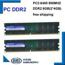 Kembona frete grátis ram desktop pc ddr2 800 mhz 8 gb (kit de 2x4 gb) ddr2 8g kit PC2-6400 apenas para A-M-D placa-mãe