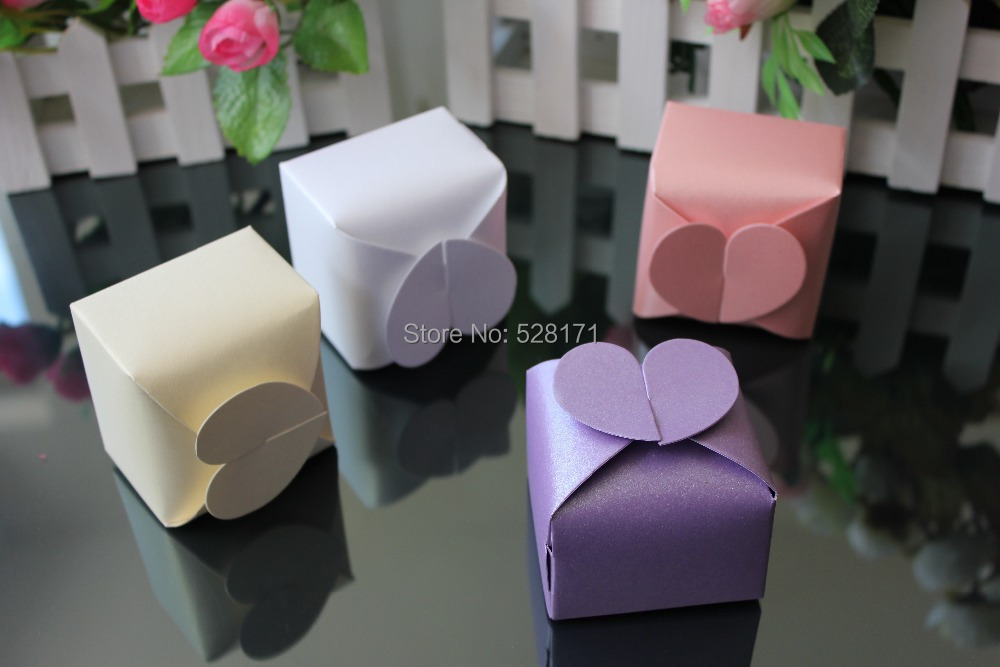 Free Shipping 100pcs Lot Sweet Heart Shape Wedding Favor Box Design Colorful Candy Packaging Boxes In Gift Bags Wrapping Supplies From Home Garden On