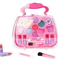 Girls Christmas Kids Palette Pretend Play Suitcase Simulation Toy Children Makeup Set Gift Funny Princess Cosmetics Kit Plastic