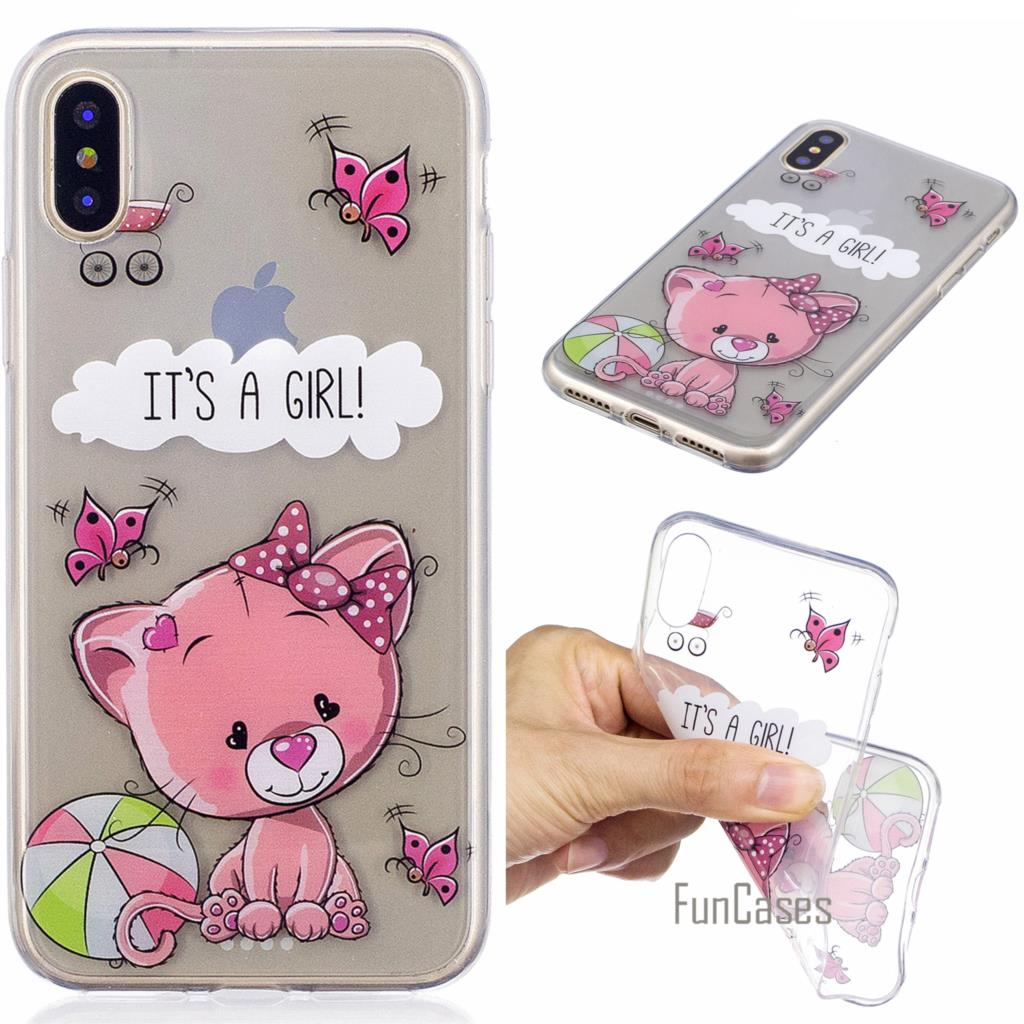Lovely Cat Phone Case for Samsung Galaxy S8 Plus A3 A5 2016 J3 J5 Prime J7 2017 Soft TPU Cover Case for iPhone X 8 Plus 7 6 5 ...