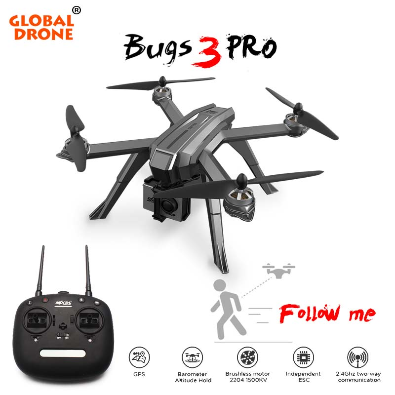 Global Drone GPS Follow Me Brushless Drones Professional Quadrocopter Long Time Fly Helicopter Dron Drones With Camera HD