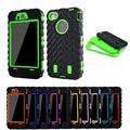 Coque Для iPhone 4s case Шин Двухслойный Силиконовые Футляр Пластиковый крышка Для iphone 4 4g Броня Гибридный Пластиковая Защита Телефон case