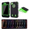 Full Edge Protect Case For iPhone 4s Case Tire Dual Layer Silicone Hard Cover For iPhone 4 4G Armor Hybrid Plastic Phone Cases