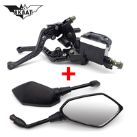 Motorcycle brake pump Clutch Lever mirrors for bmw gs 1200 honda shadow vt 750 triumph bonneville yamaha xt660x bmw r1200gs lc