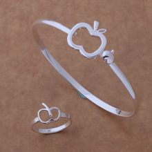 AS111 Hot 925 sterling silver Jewelry Sets Ring 247 + Bangle 043 /bhbajyia afbaiwia(China)