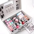 Miss Rose Maquiagem Profissional Kit Sombra Blush Mulheres Caso Cosméticos Brushers Completo Pro Makeup Palette Batom 2017 Primavera