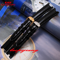 laopijiang Leather Watchband notch fit GC watch with pin buckle style watch strap 14*6MM/14*8MM