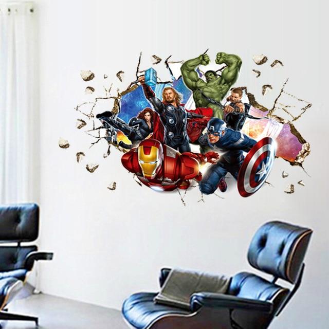 Movie 3d Wall Stickers Home Decor The Avengers Cartoon