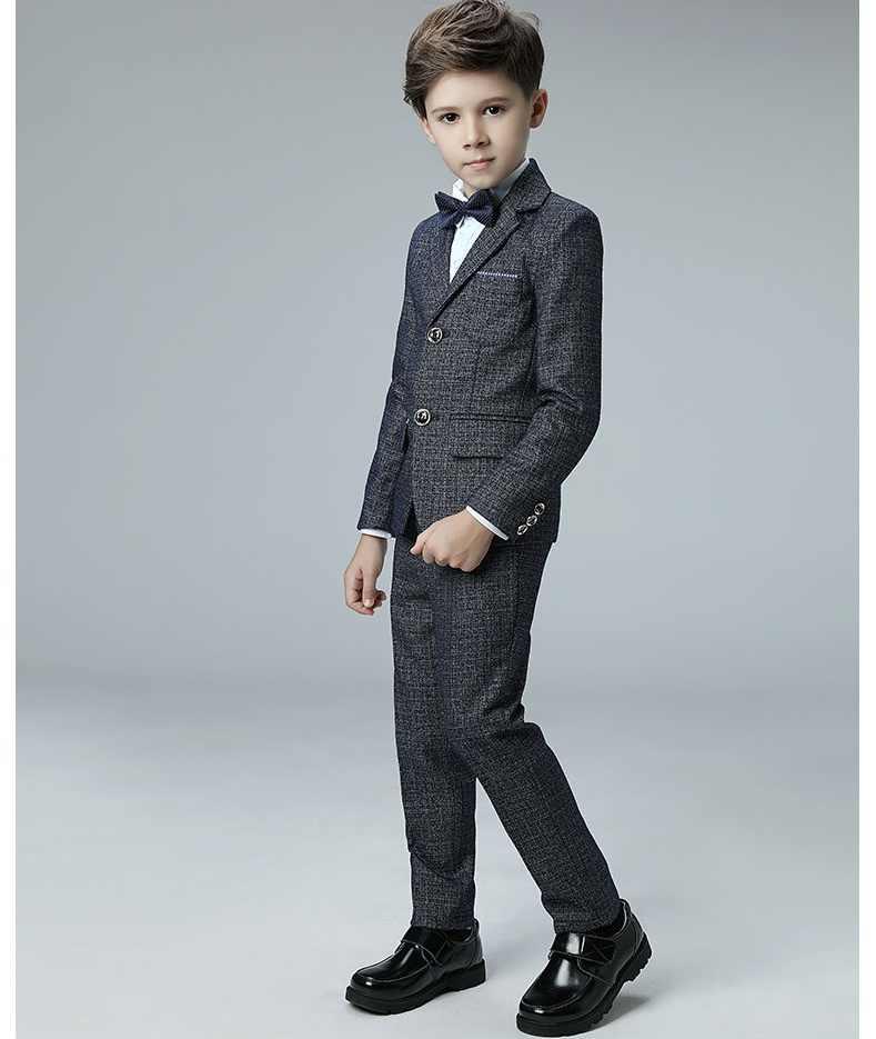 高品質の子供のスーツ2018春と秋韓国男の子スーツスーツ学生衣装子供ウェディングフラワーガールドレス男の子