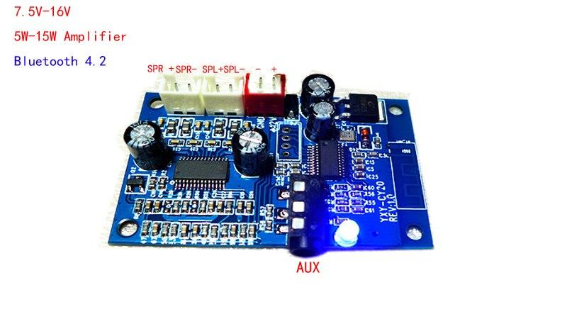 Mit 15 Watt * 2 Verstärker 7,5 V-16 V Spannung Knitterfestigkeit Motiviert Bluetooth Audio Receiver Verwenden Audio Umwandlung Bord Empfangen Bluetooth Audio Ausrüstung