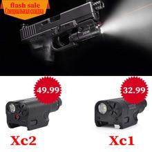 SF Высокий люмен XC1 и XC2 красный точечный лазерный светильник компактный пистолет Флэш-светильник 20 мм тактический светодиодный мини белый светильник для страйкбола
