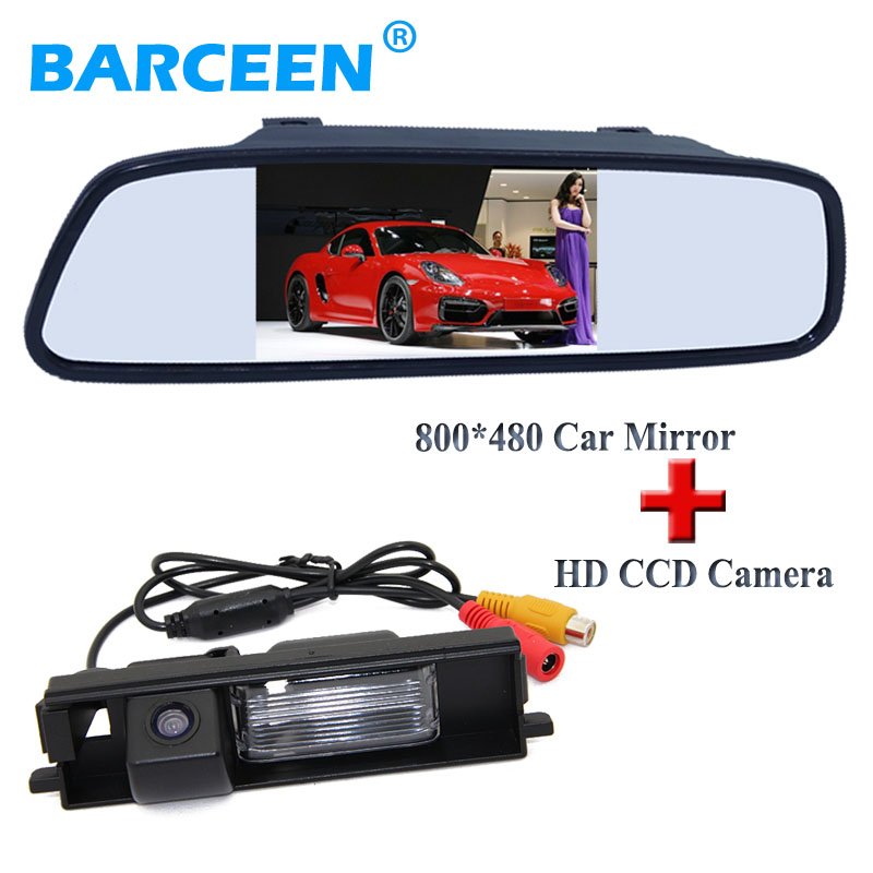 Auto car rear-view camera bring 170 lens angle plastic shell +4.3 car reserve mirror use for Toyota RAV4 (2009~2012)