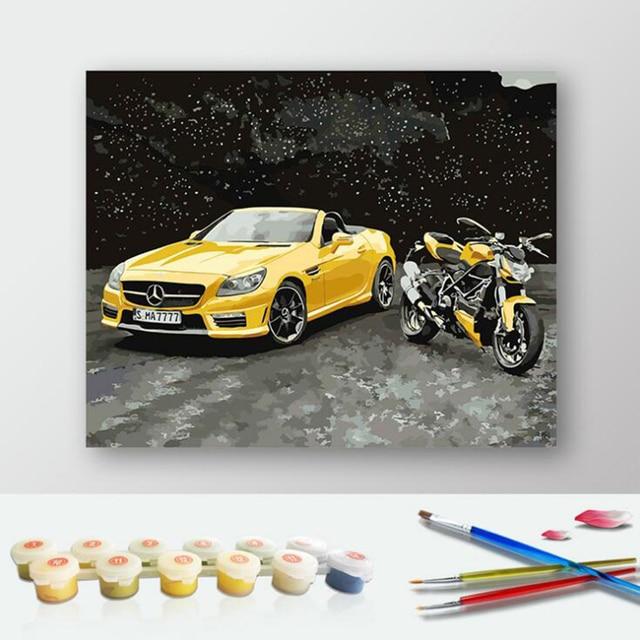 Mobil Sport Gambar Lukisan Nomor Modern Diy Minyak Lukisan Acrylic