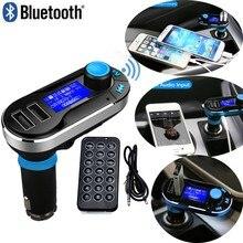 Nuevo Bluetooth Car Kit Manos Libres Inalámbrico Bluetooth Transmisor FM Reproductor de MP3 Kit de Coche Cargador Para iPhone6 Samsung Teléfono Inteligente