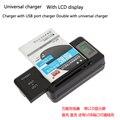 Universal Lcd Móvel Bateria Do Telefone Celular Carregador de Parede de Viagem com Porta USB EUA/EU/AU/UK plugue
