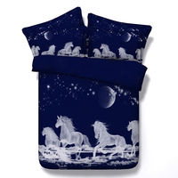 Horse Bedding Sets Sheets Bed In A Bag 3D Bluesky Duvet Cover Set Bedspread Cal King