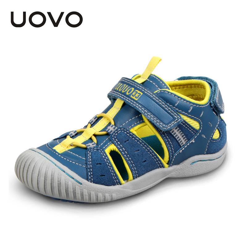UOVO rubber closed toe sandals, children's summer sandals boys and girls fashion sandals for kids sandalias ninas 4-7 years old