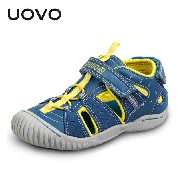Uovo cerradas sandalias de punta de goma, sandalias del verano de los niños chicos y chicas de moda sandalias para niños sandalias ninas de 4-7 años de edad