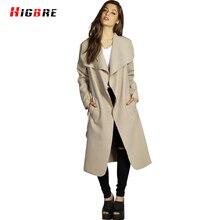 New Fashion Autumn Winter Coat Women Elegant 2016 Ladies Large Size Woolen Coat Female Jacket Designs Long Lace Manteau Femme