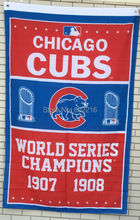 Chicago Cubs World Series Champions Large Outdoor Flag 3ft x 5ft Football Hockey Baseball USA Flag