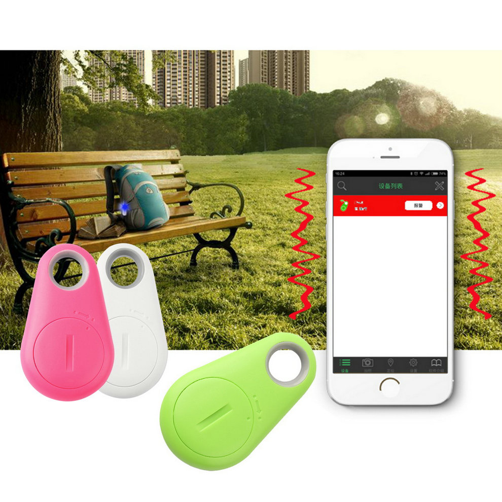 Mini Smart Bluetooth 4.0 Low Energy Anti-Lost Alarm Wireless Remote Shutter GPS Tracker Alarm Keychain for Kids,Keys,Pets,etc. wireless bluetooth v4 0 anti lost alarm for iphone 4 4s 5 ipad more plastic