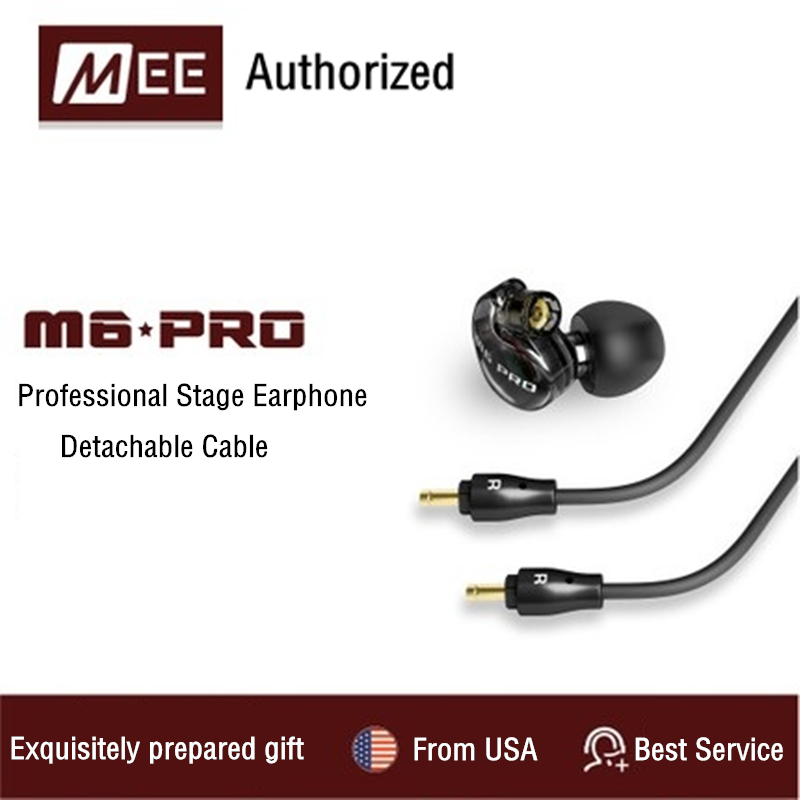 MEE audio M6 PRO Universal-Fit Noise Isolating Musician's In-Ear Monitors with Detachable Cables for Smart Phones VS SE215 SE535 new wired earphone mee audio m6 pro universal fit noise isolating earphones musician s in ear monitors headset good than pb3 pb