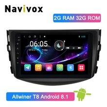 Navivox 2 Din Android 8.1 Car Multimedia Player GPS Radio Stereo Per Toyota RAV4 2007 2008 2009 2010 2011 Auto stereo di Navigazione