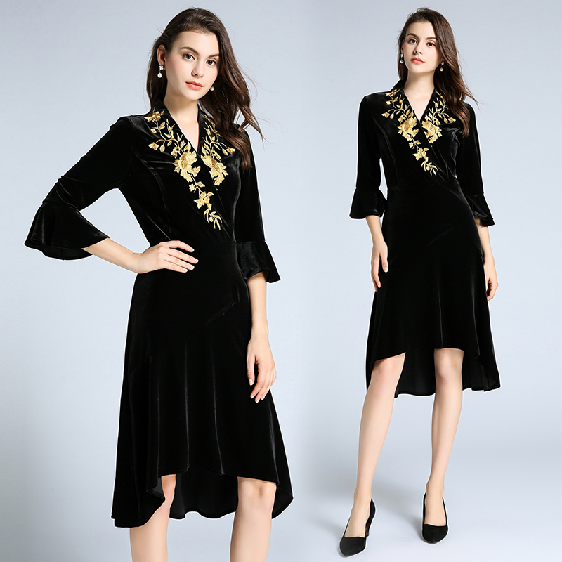 2019 New Autumn Women Dress Vestidos Clothes fashionable
