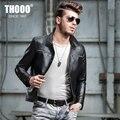 THOOO Men's lapel leather jacket Men's leather motorcycle leather men Korean Slim sheep skin men's jackets