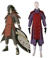 Free Shipping Naruto Shippuden Uchiha Madara The 4th Greatest Ninja War Edo Tensei Figting Uniform Anime