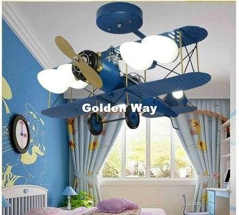 חדר השינה של ילדים מצוירים משלוח חינם תקרת צמודי אור ורוד וכחול עיצוב ילדים מודרניים תקרת מנורות תאורת E27