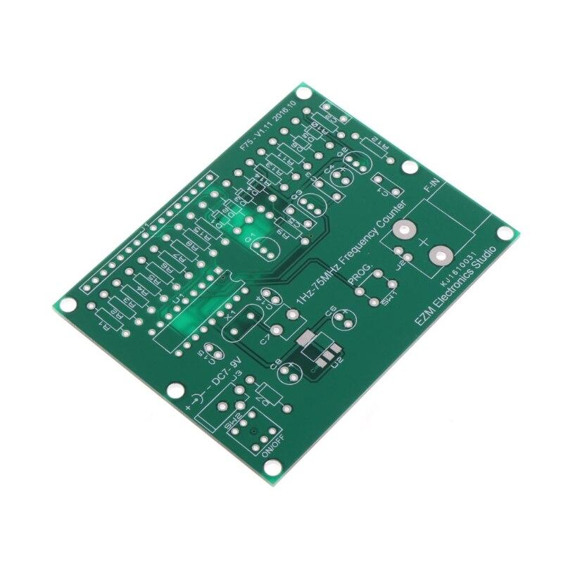 Medidor do Verificador do Módulo do Címetro Hz-contador de Frequência de 75 Aimometer v 50ma Kit Faça Você Mesmo 1 Mhz 7 V-9
