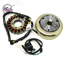 Магнитный комплект 18 полюсная катушка 4 провода триггер Маховик Ротор 250CC 172 мм PGO Дюна Kazuma Скутер ATV багги запчасти