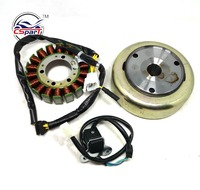 Magneto Kit 18 Pole Coil 4 Wire Trigger Flywheel Rotor 250CC 172MM PGO Dune Kazuma Scooter ATV Buggy Parts