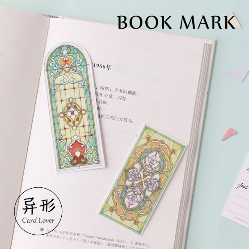 30 Pcs/box Window Of Life Cartoon Bookmark Escolar Paper Bookmarks Stationery Zakka School Supplie Papelaria Gift Cards