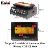 Kaisi K 303 SS T12A placa mãe ferramenta de reparo estação aquecimento para iphone x xs max cpu reparação aquecimento|Conj. ferramentas elétricas| |  -