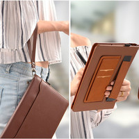 leather hand Leather Smart Case For Huawei MediaPad M5 10.8 Pro CMR-AL09 CMR-W09 10.8 inch Tablet Stand Cover Hand strap Storage pocket (2)