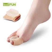 1 пара силиконовый выпрямитель для большого пальца ноги