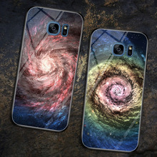 S7 Edge Case Glass Cover for Samsung Galaxy Tempered Phone Soft Silicone Bumper s7 edge Coques