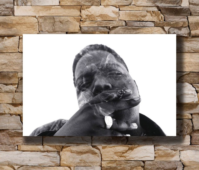 N2349 Notorious Big Biggie Smalls Smoking Rap 8x12 20x30 24x36 Silk