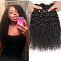 "Mongolian Kinky Curly Hair 4pcs,8-30"" Kinky Curly Virgin Hair Remy Human Hair Weave Bundles Kinky Curly Hair No Tangle"