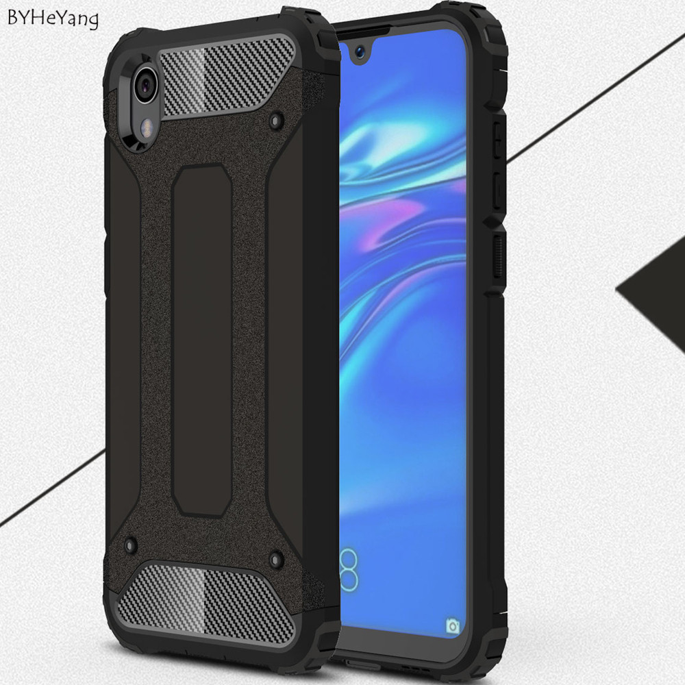 Case For Huawei Honor 8S Case Shockproof Hard PC Silicon Anti-knock Soft TPU Shell For honor 8 s cell Phone Case on honor8s capa